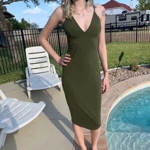 Slinky Green Dress